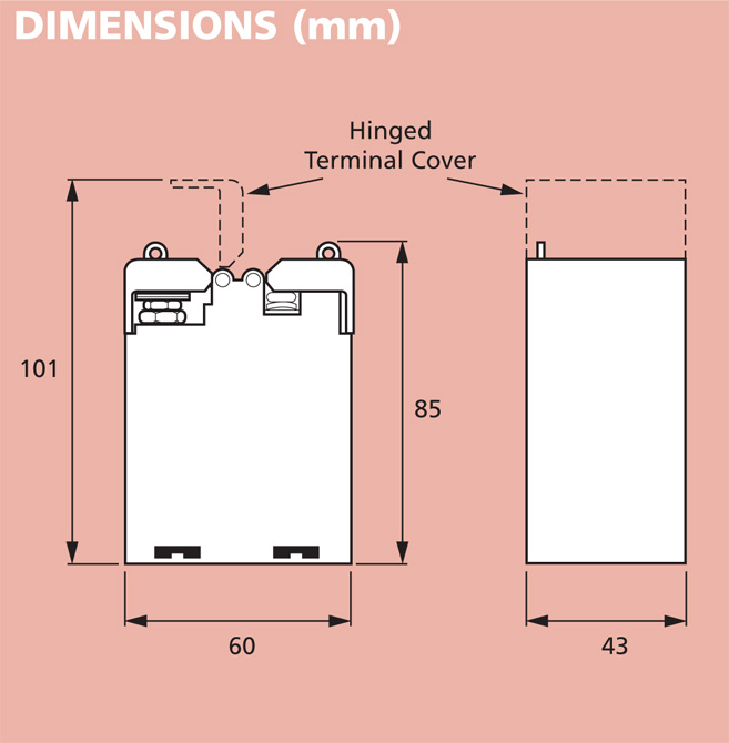 16 series type 160 MCCT 1 dimensions