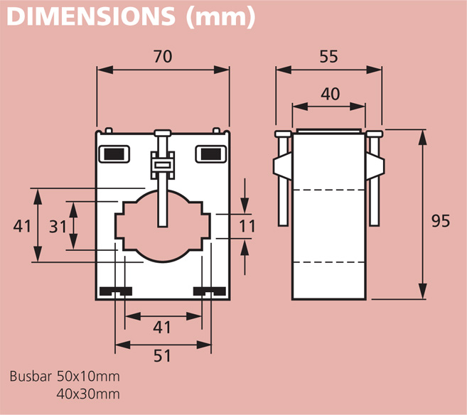17 series type 175 MCCT 1 dimensions